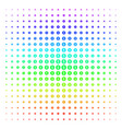 bank seal icon halftone spectrum effect vector image