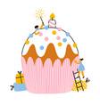 big birthday party cupcake vector image