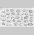 black white comic style stickers slogans on a vector image