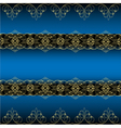 Blue Ornamental Background vector image vector image