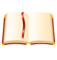 book with red cover on a white background vector image