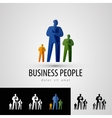 business logo design template people or staff icon vector image vector image