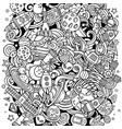 cartoon doodles space funny vector image