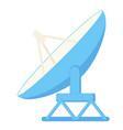 cartoon satellite antena vector image