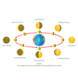 Change new moon vector image vector image