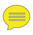 Chat bubble colorful icon design vector image vector image