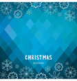 Christmas and New Year rhombus background with sno vector image