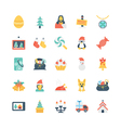 Christmas Colored Icons 3 vector image vector image
