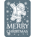 christmas greeting card santa grey copy vector image vector image