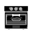 contour technology oven electric kitchen utensil vector image