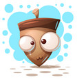cute crazy nuts - cartoon vector image