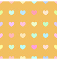 cute pastel rainbow or colorful polka dot in heart vector image vector image