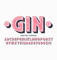 decorative vintage typeface letters vector image