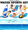 Different kind of water sports vector image vector image