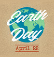 earth planet day friendly background vector image