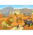educational game for children african savannah vector image vector image
