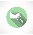 envelope with magnifying glass icon vector image