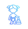 female toddler gradient linear icon vector image