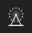 ferris wheel icon carousel in park icon amusement vector image vector image