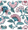 floral seamlessl pattern ornamental backdrop vector image vector image