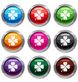four leaf clover set 9 collection vector image vector image