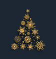 glittery snowflake christmas tree design vector image vector image