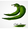 green chili pepper vector image
