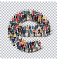 group people shape letter E Transparency vector image vector image