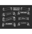 hand drawn retro ribbon banners on vector image vector image