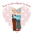 happy grandparents embrace vector image vector image