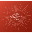 Happy Valentines day vintage lettering background vector image