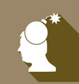 icon gear head with a long shadow vector image