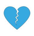 isolated broken heart design vector image vector image