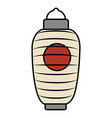 japanese lamp isolated icon vector image vector image