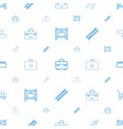 kit icons pattern seamless white background vector image vector image