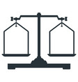 laboratory scales icons vector image vector image