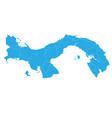 map of panama high detailed map - panama vector image vector image