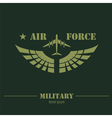 Military logo and badge Air force Graphic template vector image vector image