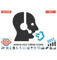 Operator Speech Flat Icon With 2017 Bonus Trend vector image vector image