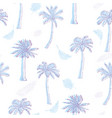 palm tree pattern seamless hand drawn textures on vector image vector image