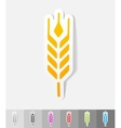 realistic design element barley vector image