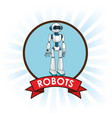 robots android technology futuristic banner vector image