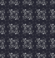 Seamless Floral GrayScale Pattern vector image vector image