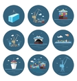 Set of Cargo Icons Freight Transportation vector image vector image