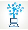 social media icon stock vector image vector image