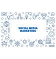 social media marketing outline horizontal vector image vector image
