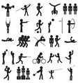 sports icon set in black vector image vector image