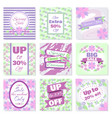 spring sale banners set vector image