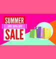 summer sale flat design poster selling ad banner vector image vector image