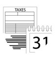 tax day icon line vector image